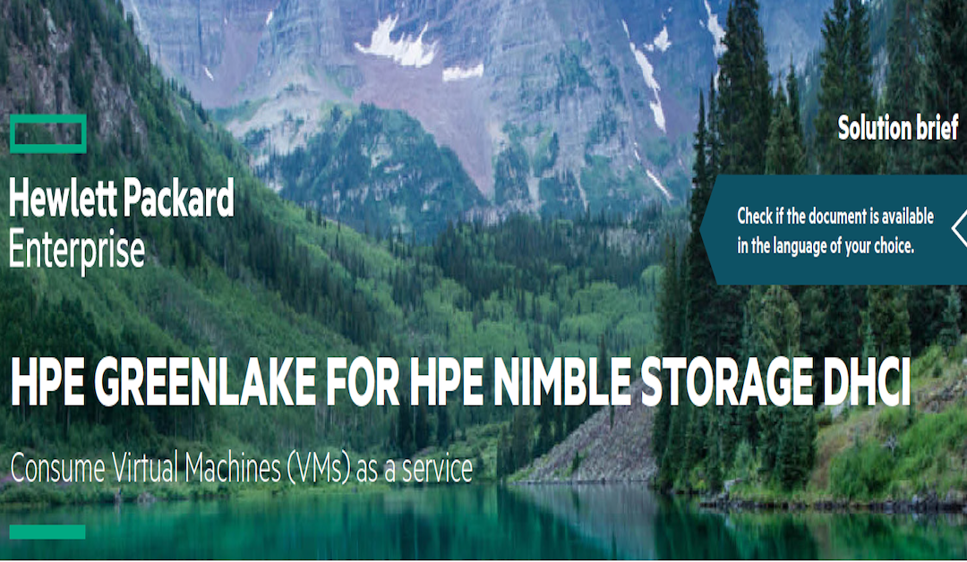HPE Greenlake for HPE Nimble Storage dHCI Consume VMs as a Service