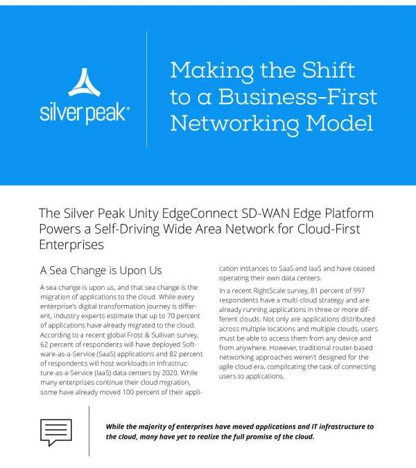 Making the Shift to a Business-First Networking Model