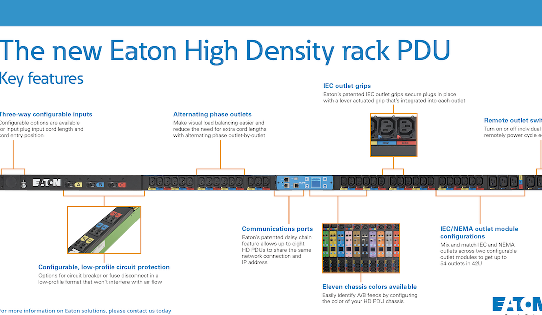 The new Eaton High Density rack PDU