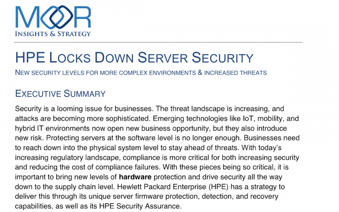 HPE Locks Down Server Security