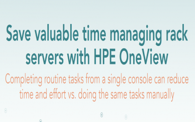 Save valuable time managing rack servers with HPE One View