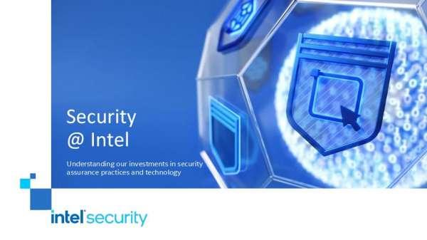Security @ Intel