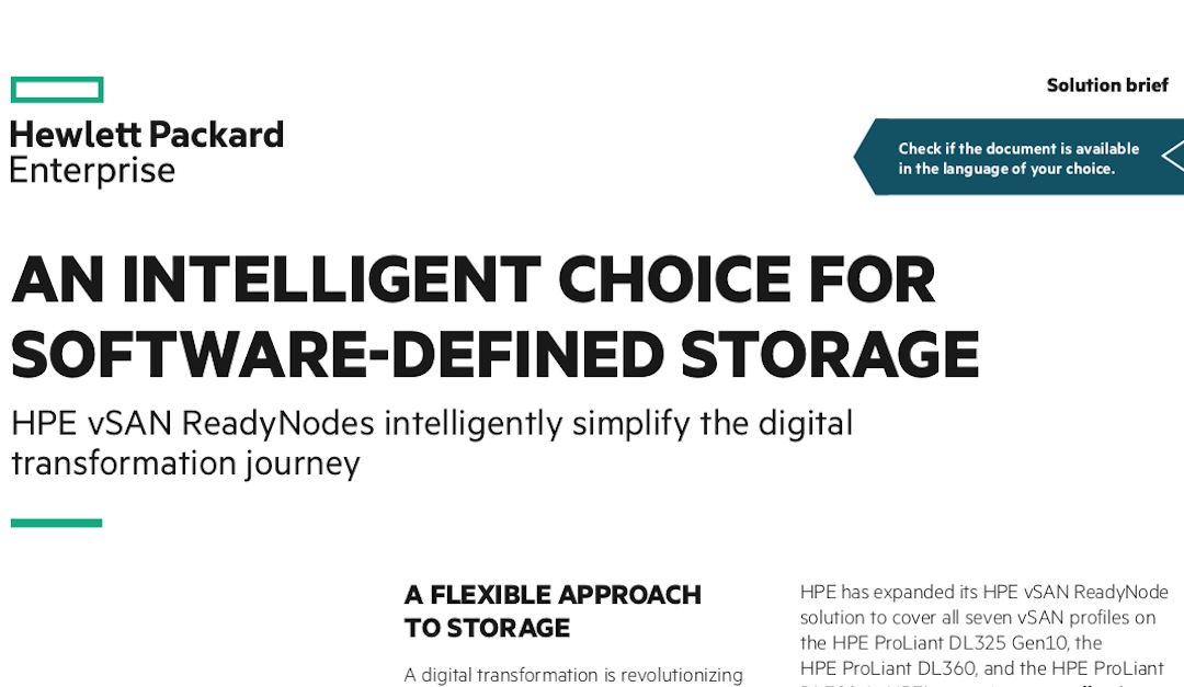 An Intelligent Choice for Software-Defined Storage